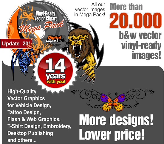 All Vinyl-Ready Vector Clipart - the unique offer for you!