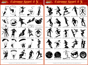 Extreme Sport 4   - Vector Clipart